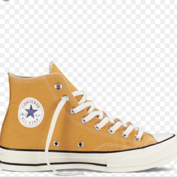 c1db170d0612 Converse Shoes   Mustard Yellow High Tops 70   Poshmark